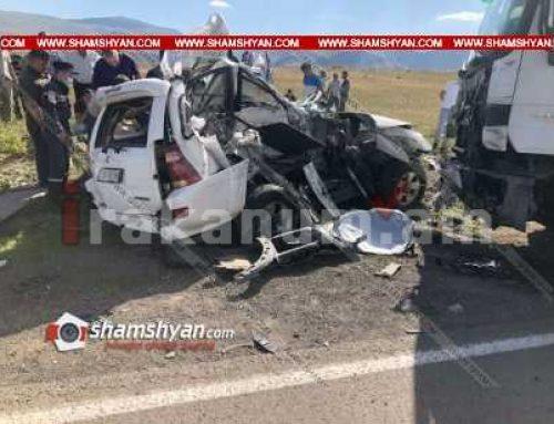 Ողբերգական ավտովթար Սյունիքի մարզում. բախվել են MAN բեռնատարն ու Toyota-ն. ընտանիքի 4 անդամները տեղում մահացել են
