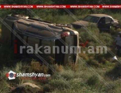 Արմավիրում բախվել են Lexus-ն ու Mercedes-ը և հայտնվել դաշտում. կա վիրավոր