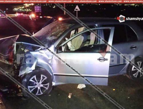 Խոշոր ավտովթար՝ Կոտայքում. Աբովյան-Նոր Հաճն ավտոճանապարհի կամրջի վրա բախվել են Skoda և Ford մակնիշի ավտոմեքենաներ, 5 մարդ հոսպիտալացվել է