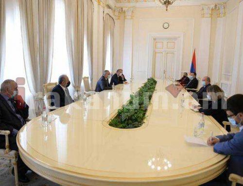 Նախագահ Արմեն Սարգսյանը հյուրընկալել է Արցախի Հանրապետության Ազգային ժողովի պատվիրակությանը