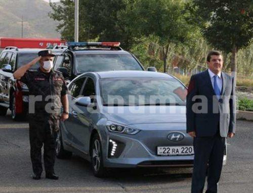 Արայիկ Հարությունյանը հանդիպել է ԱՀ ոստիկանության ճանապարհային ոստիկանության անձնակազմի հետ