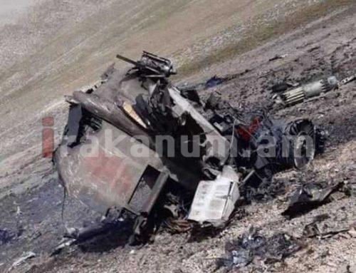 Հրապարակվել են ՀՀ ԶՈւ խոցված Սու-25-ի լուսանկարները