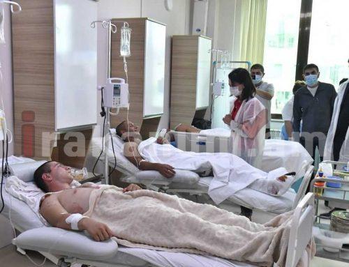 Աննա Հակոբյանը Արցախի նախագահի տիկնոջ հետ այցելել է Հանրապետական բժշկական կենտրոն