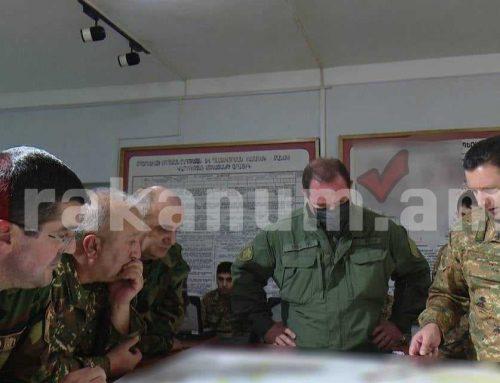 Դավիթ Տոնոյանն ու Արայիկ Հարությունյանն այցելել են բանակի մարտական կառավարման կենտրոն