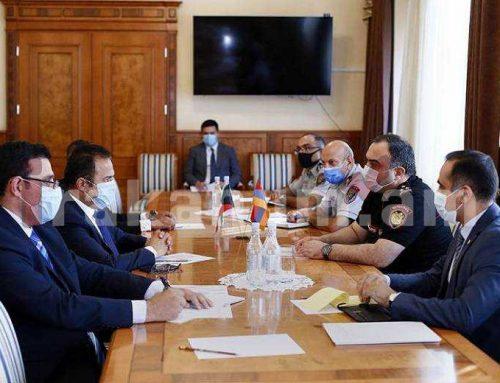 Ոստիկանության պետ Վահե Ղազարյանն ընդունել է Հայաստանում Քուվեյթի արտակարգ և լիազոր դեսպանին