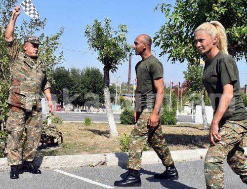 Զինծառայողները հանձնել են ֆիզիկական պատրաստության ստուգարքներ