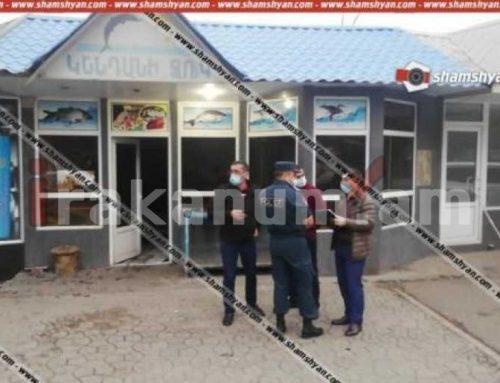 Վանաձորում ձայնային նռնակով պայթեցրել են տեղի ձկան խանութը