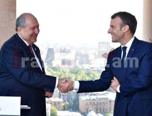 Ֆրանսիան և Հայաստանը կարող են հպարտանալ պատմական կապերի համար. Էմանուել Մակրոնը՝ Արմեն Սարգսյանին