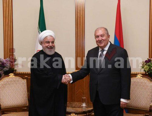 Արմեն Սարգսյանին շնորհավորել է Իրանի Իսլամական Հանրապետության նախագահ Հասան Ռոհանին