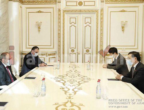 Նիկոլ Փաշինյանը հրաժեշտի հանդիպում է ունեցել Չինաստանի դեսպանի հետ