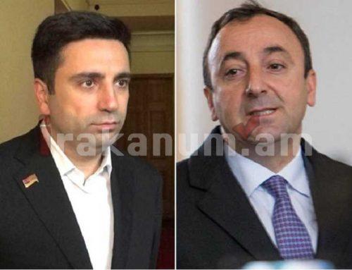 Տրամաբանական չեմ համարում. Ալեն Սիմոնյանը բացառում է Հրայր Թովմասյանի ընտրվելու հանգամանքը