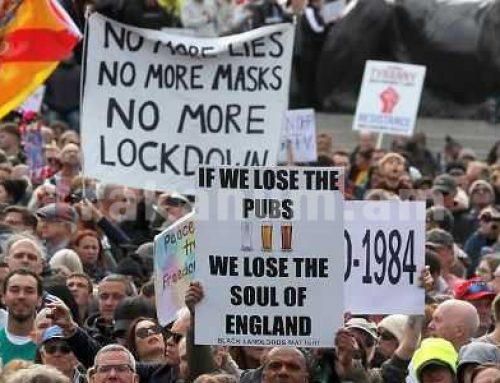 Լոնդոնում բողոքում են նոր սահմանափակումների դեմ