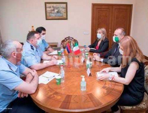 ՀՀ քննչական կոմիտեի նախագահն ընդունել է ՀՀ-ում Իտալիայի արտակարգ և լիազոր դեսպանին