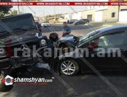Խոշոր ավտովթար Կոտայքի մարզում. բախվել են Mercedes G500-ն ու KIA Forte-ն. կա վիրավոր