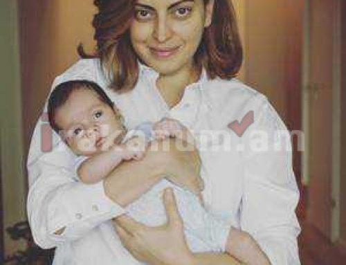 Լենա Նազարյանը նորածին որդու հետ լուսանկար է հրապարակել