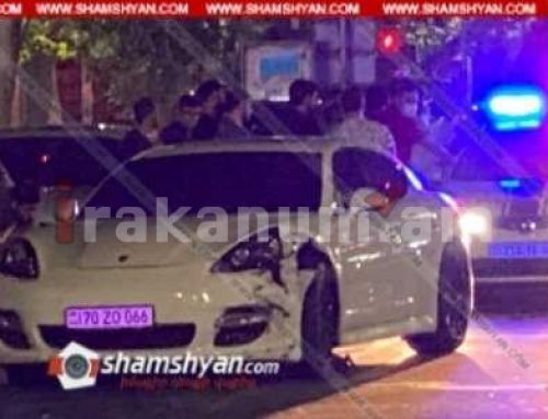 Ավտովթար Երևանում․ SAS սուպերմարկետի հարևանությամբ բախվել են՝ Porsche Panamera-ն, Mercedes-ն ու Nissan-ը