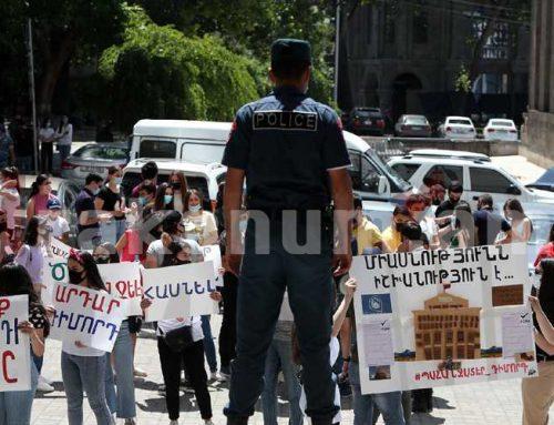 Արայի՛կ, հեռացի՛ր. ԲՀԿ երիտասարդները պահանջում են ԿԳՄՍ նախարարի հրաժարականը