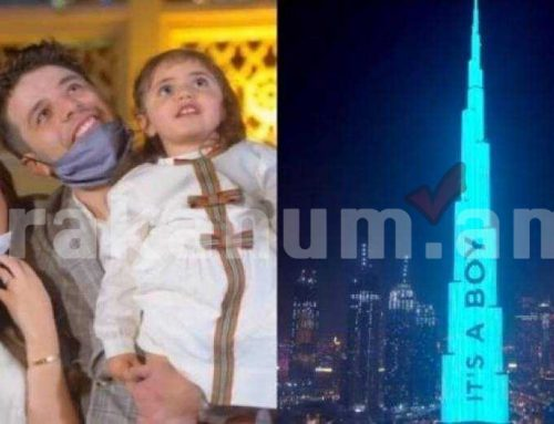 Դուբայում զույգը վճարել է 95.000 դոլար ապագա երեխայի սեռը Բուրջ Խալիֆայի վրա տեսնելու համար