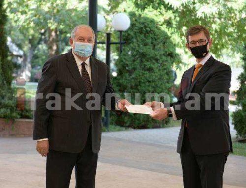 ՀՀ նախագահին հավատարմագրերն է հանձնել Հայաստանում Նիդերլանդների Թագավորության նորանշանակ դեսպանը