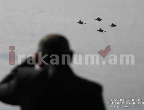 Վարչապետը հետևել է ՀՀ զինված ուժերի օդուժի տոնական թռիչքին