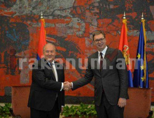 ՀՀ Անկախության տոնի առթիվ Արմեն Սարգսյանին շնորհավորել է Սերբիայի նախագահը