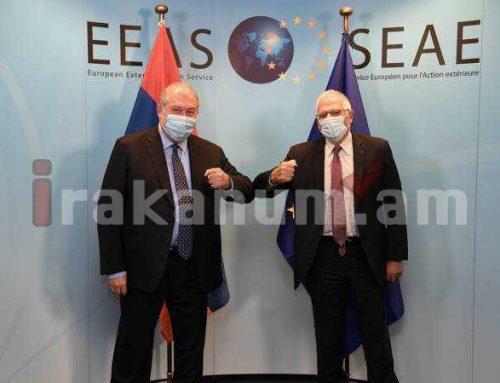Արմեն Սարգսյանը Ժոզեպ Բորելի հետ քննարկում է ԼՂ-ում տիրող իրավիճակը