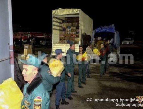 Արտերկրից եկած յուրաքանչյուր բեռ առաջին հերթին ուղարկվում է առաջնագիծ և ապաստարաններ