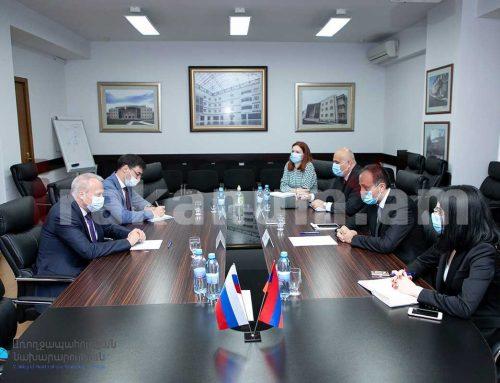 Առողջապահության նախարար Արսեն Թորոսյանը հանդիպել է ՀՀ-ում ՌԴ արտակարգ և լիազոր դեսպան Սերգեյ Կոպիրկինի հետ
