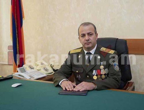 ԱԱԾ սահմանապահ զորքերի շտաբի պետ Գագիկ Թևոսյանն ազատվեց պաշտոնից