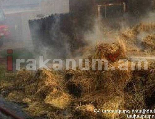 Գանձակ գյուղում այրվել է մոտ 150 հակ անասնակեր. ԱԻՆ