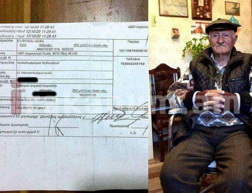 89֊ամյա Հովսեփ պապն իր երկար տարիների խնայողությունը՝ 1 միլիոն դրամը փոխանցել է համահայկական հիմնադրամին