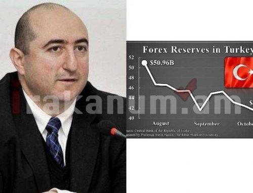 Թուրքիայի արտարժութային պաշարները արդեն իսկ նվազել են շուրջ 10 մլրդ դոլարով. երկրում շուրջ 37 տոկոս գնաճ է. Մանուկյան
