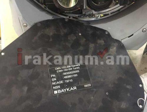 Երեկ խոցված թուրքական Bayraktar TB2 մարտական ԱԹՍ-ի հեռակառավարվող տեսախցիկը L-3 WESCAM CMX-15D մոդելի է