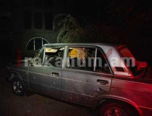 Կարմիր շուկայում կասետային ռումբից վնասված մեքենայի վարորդը մահացել է (ֆոտո)