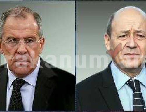 ՌԴ եւ Ֆրանսիայի ԱԳՆ ղեկավարները քննարկել են Լեռնային Ղարաբաղի հակամարտության գոտում իրավիճակի զարգացումը