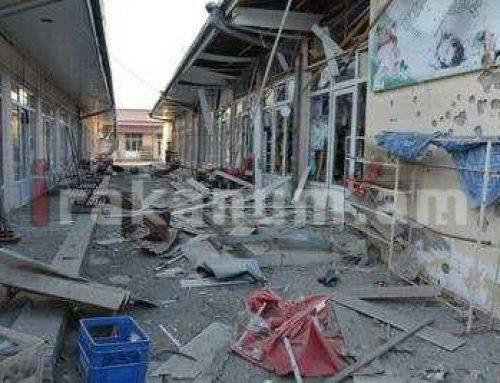 Առավոտյան հրթիռակոծվել է Ստեփանակերտը. Թիրախում դարձյալ քաղաքացիական ենթակառուցվածքներն են. Արցախի ԱԻՊԾ (ֆոտո)