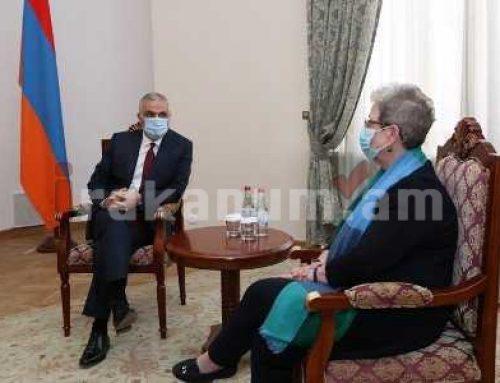Մհեր Գրիգորյանը հանդիպել է ԵՄ դեսպանի հետ. խոսվել է Թուրքիայի եւ Ադրբեջանի հանցավոր գործողությունների մասին