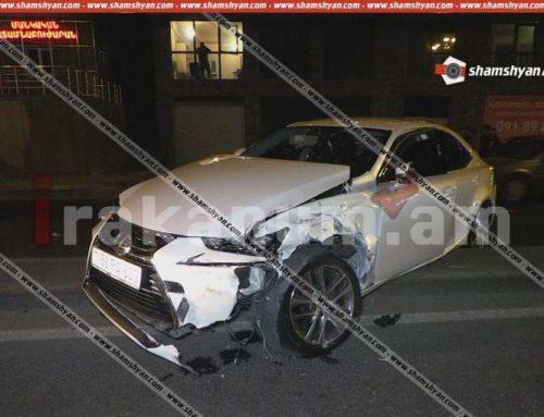 Երևանում «Lexus» և «BMW» մակնիշների ավտոմեքենաներ են բախվել. 1 անձ տեղափոխվել է «Աբովյան» բժշկական կենտրոն