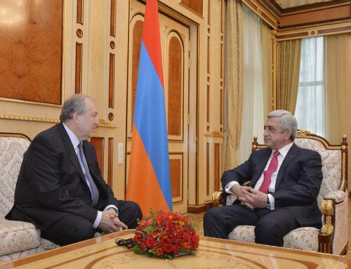 Նախագահ Արմեն Սարգսյանը ցավակցել է երրորդ նախագահ Սերժ Սարգսյանին և այցելել նրան