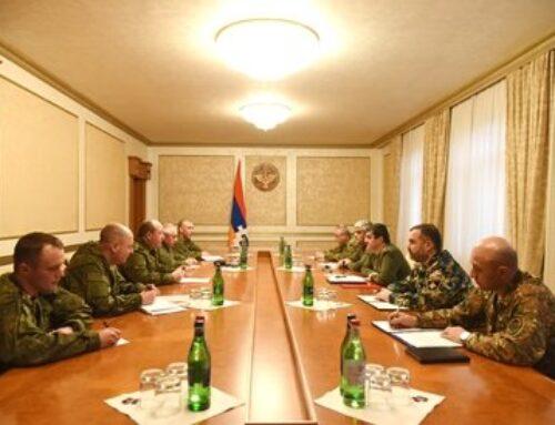 Արայիկ Հարությունյանն ընդունել է ՌԴ զինված ուժերի ինժեներական զորքերի պետ Յուրի Ստավիցկու գլխավորած պատվիրակությանը
