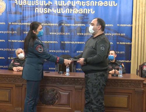 Պատերազմին մասնակցած ավելի քան 180 ոստիկան խրախուսվել է անձնվիրաբար ծառայության համար