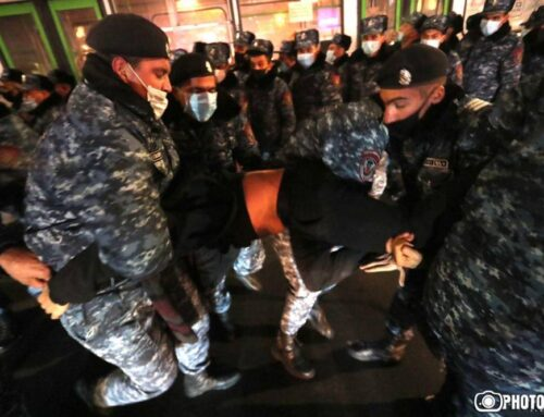 Նիկոլ Փաշինյանի հրաժարականի պահանջով բողոքի ակցիա իրականացնելիս բերման է ենթարկվել 35 քաղաքացի