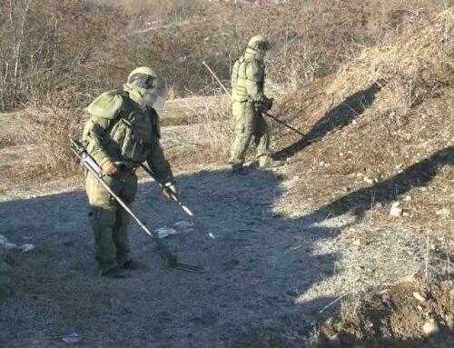 Ռուս խաղաղապահները Լեռնային Ղարաբաղում ականազերծել են շուրջ 529 հա տարածք