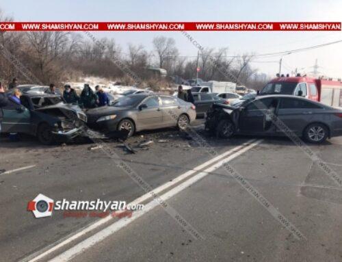 Խոշոր ավտովթար Երևանում. բախվել են Toyota-ն, Mercedes-ն ու Hyundai-ը