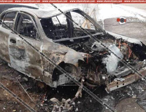 Սյունիքում Nissan Skyline-ը բախվել է գազատարին. ավտոմեքենան վերածվել է մոխրակույտի. կան վիրավորներ