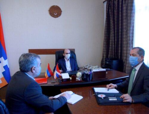 Արտակ Բեգլարյանը Կարմիր խաչի Արցախի գրասենյակի ղեկավարի հետ քննարկել է մարդասիրական մի շարք ծրագրեր