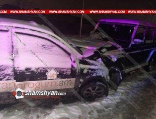 Խոշոր ավտովթար Երևանում. ճակատ-ճակատի բախվել են Mercedes G-ն ու Nissan-ը. բժիշկները պայքարում են վիրավորի կյանքի համար