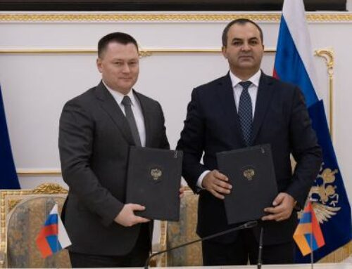 Արթուր Դավթյանը հանդիպել է ՌԴ գլխավոր դատախազ Իգոր Կրասնովի հետ. ստորագրել են 2021-2022թթ. համագործակցության ծրագիրը