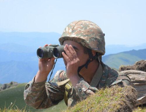Հայ-ադրբեջանական սահմանի ամբողջ երկայնքով միջադեպեր չեն արձանագրվել. ՊՆ