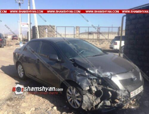Ավտովթար Զովունիում. բախվել են Toyota-ն ու ВАЗ 2101-ը. վարորդներից մեկը եղել է ոչ սթափ